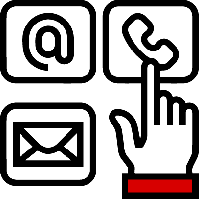 icon of hand selecting a contact method